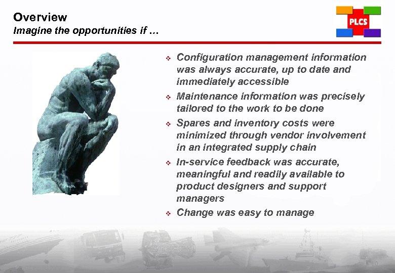 Overview Imagine the opportunities if … v v v PLCS Inc. (c) 2002 Configuration