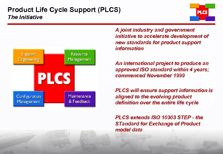Product Life Cycle Support (PLCS) The Initiative A joint industry and government initiative to