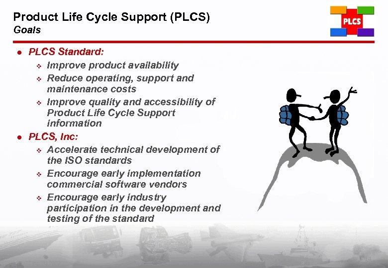 Product Life Cycle Support (PLCS) Goals l l PLCS Standard: v Improve product availability