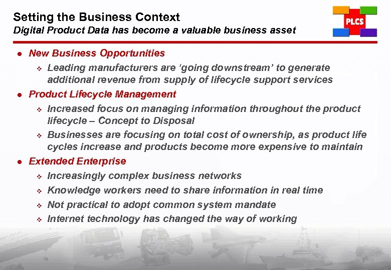 Setting the Business Context Digital Product Data has become a valuable business asset l