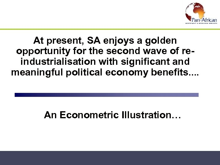 At present, SA enjoys a golden opportunity for the second wave of reindustrialisation with