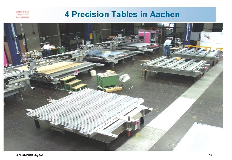 4 Precision Tables in Aachen US CMS/MDN/19 May 2001 30