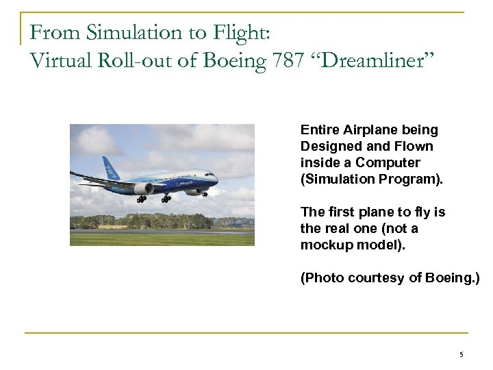 "From Simulation to Flight: Virtual Roll-out of Boeing 787 ""Dreamliner"" Entire Airplane being Designed"