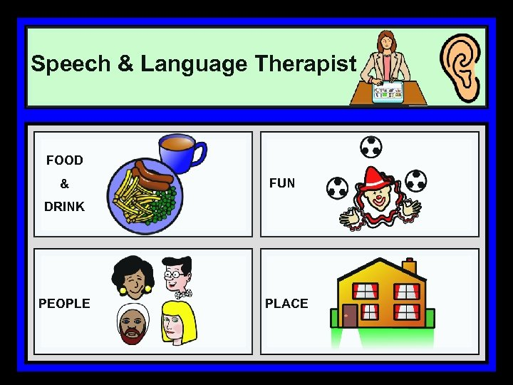 Speech & Language Therapist FOOD & FUN DRINK PEOPLE PLACE