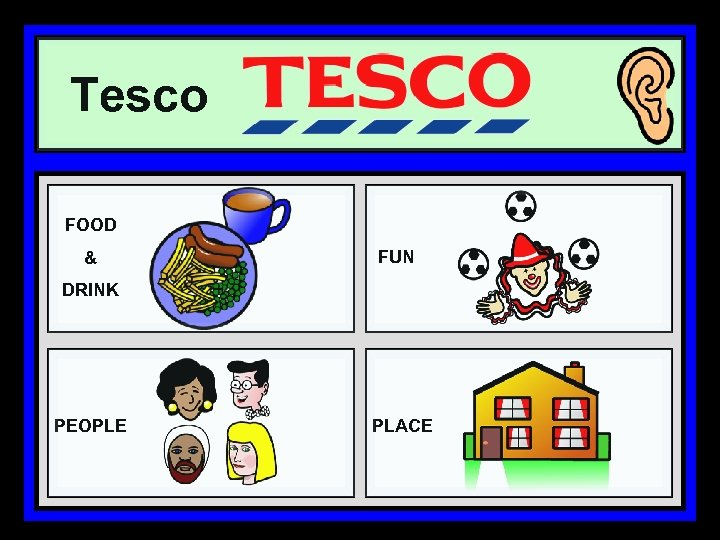Tesco FOOD & FUN DRINK PEOPLE PLACE