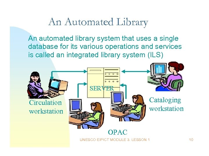 An Automated Library An automated library system that uses a single database for its