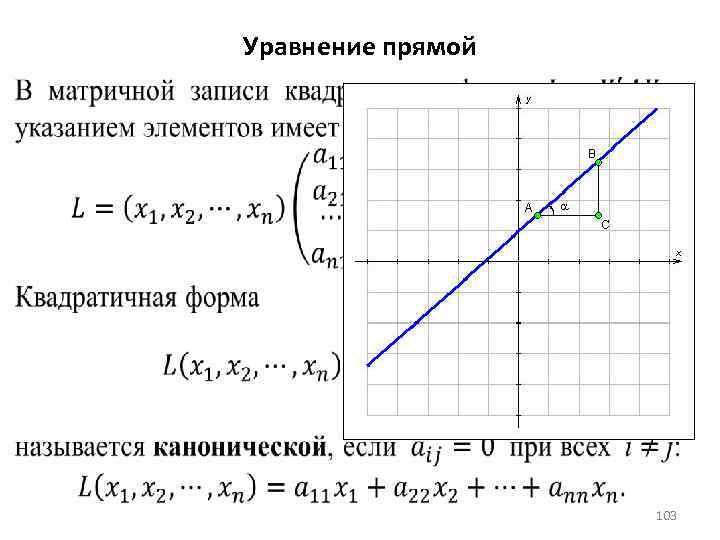 Уравнение прямой 103