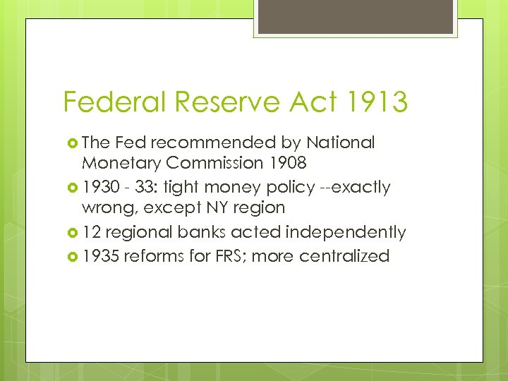 an introduction to the federal reserve and monetary policy Monetary policy involves the actions by central banks, such as the us federal reserve, to regulate a nation's supply of money the federal reserve or the fed, and other central banks, trade in government bonds, regulate banking reserve requirements, and set short-term interest rates to influence the money supply.
