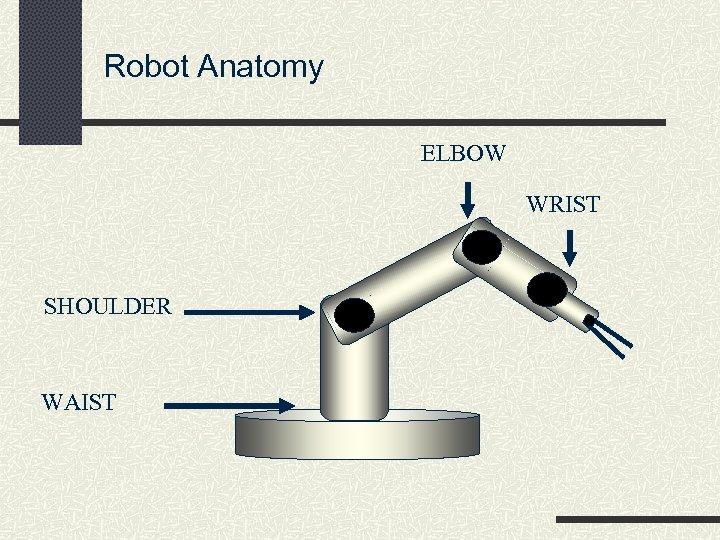 Robot Anatomy ELBOW WRIST SHOULDER WAIST