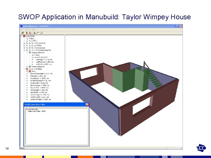 SWOP Application in Manubuild: Taylor Wimpey House 18