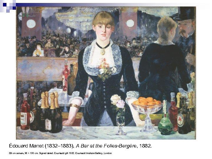 Édouard Manet (1832– 1883), A Bar at the Folies-Bergère, 1882. Oil on canvas, 96