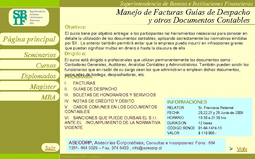 Superintendencia de Bancos e Instituciones Financieras Manejo de Facturas Guías de Despacho y otros