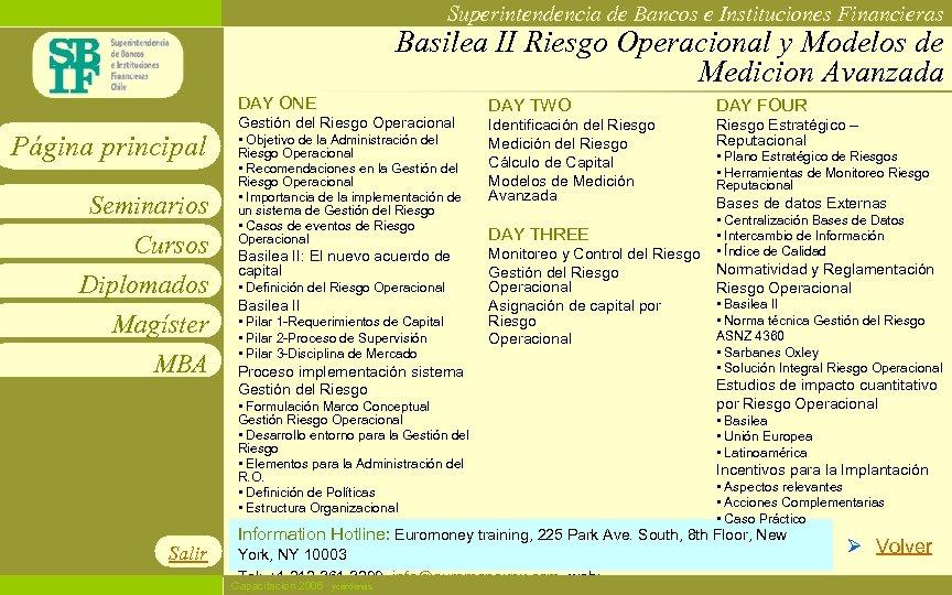 Superintendencia de Bancos e Instituciones Financieras Basilea II Riesgo Operacional y Modelos de Medicion