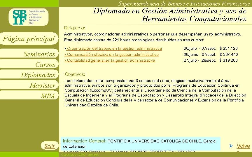 Superintendencia de Bancos e Instituciones Financieras Diplomado en Gestión Administrativa y uso de Herramientas