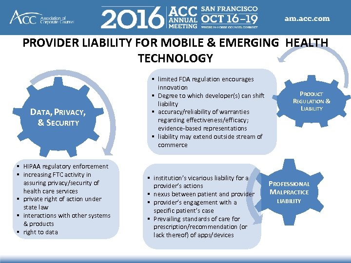 PROVIDER LIABILITY FOR MOBILE & EMERGING HEALTH TECHNOLOGY DATA, PRIVACY, & SECURITY § HIPAA