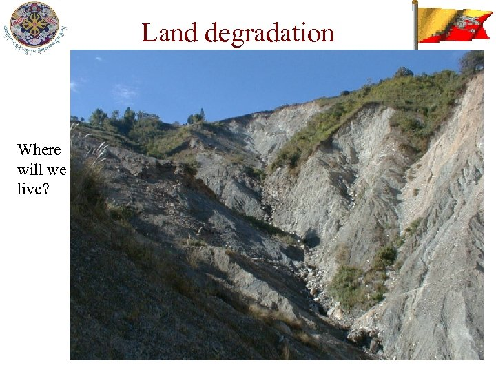 Land degradation Where will we live?