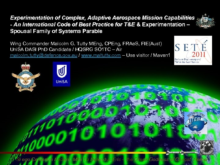Experimentation of Complex, Adaptive Aerospace Mission Capabilities - An International Code of Best Practice