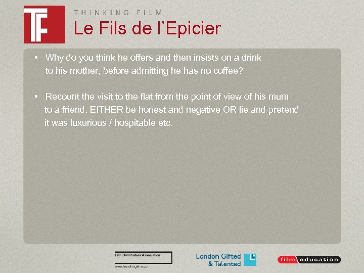 Le Fils de l'Epicier • Why do you think he offers and then insists