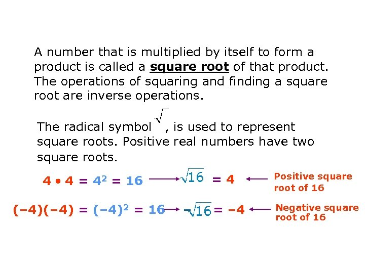 A number that is multiplied by itself to form a product is called a