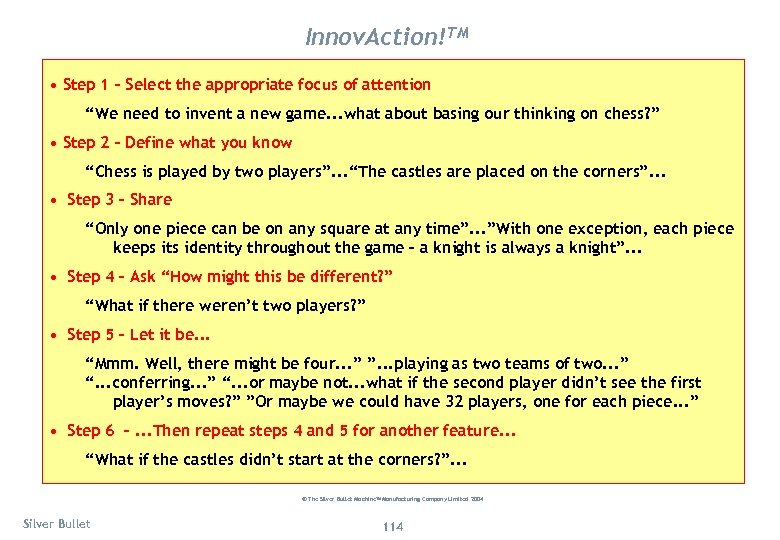 "Innov. Action!TM • Step 1 – Select the appropriate focus of attention ""We need"