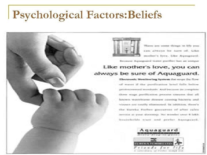 Psychological Factors: Beliefs
