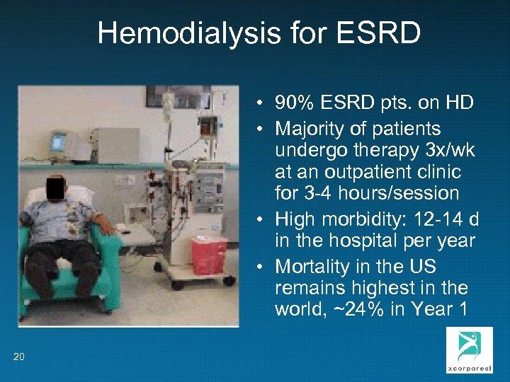 Hemodialysis for ESRD • 90% ESRD pts. on HD • Majority of patients undergo