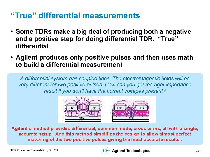 """""""True"""" differential measurements • Some TDRs make a big deal of producing both a"""