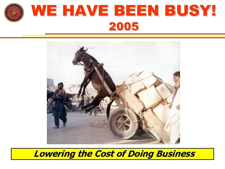 WE HAVE BEEN BUSY! 2005 Lowering the Cost of Doing Business