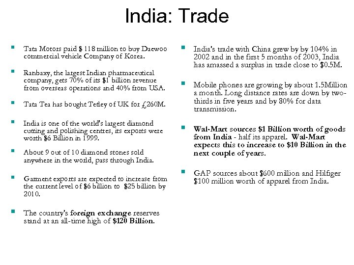 India: Trade § Tata Motors paid $ 118 million to buy Daewoo commercial vehicle