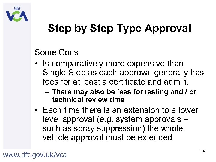 Step by Step Type Approval Some Cons • Is comparatively more expensive than Single