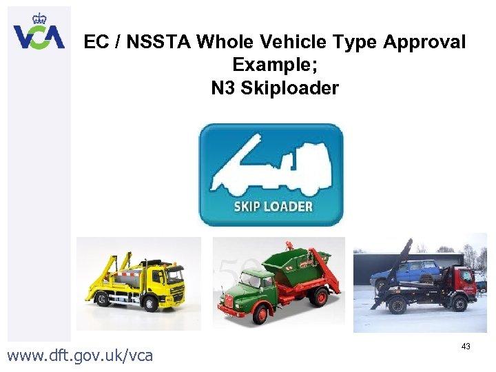 EC / NSSTA Whole Vehicle Type Approval Example; N 3 Skiploader www. dft. gov.