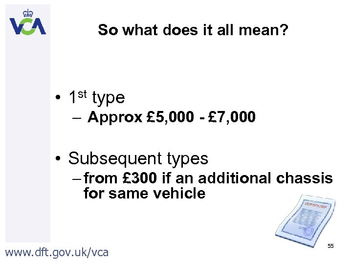 So what does it all mean? • 1 st type – Approx £ 5,