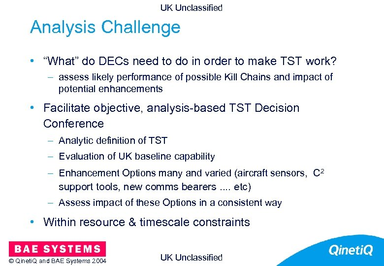 """UK Unclassified Analysis Challenge • """"What"""" do DECs need to do in order to"""