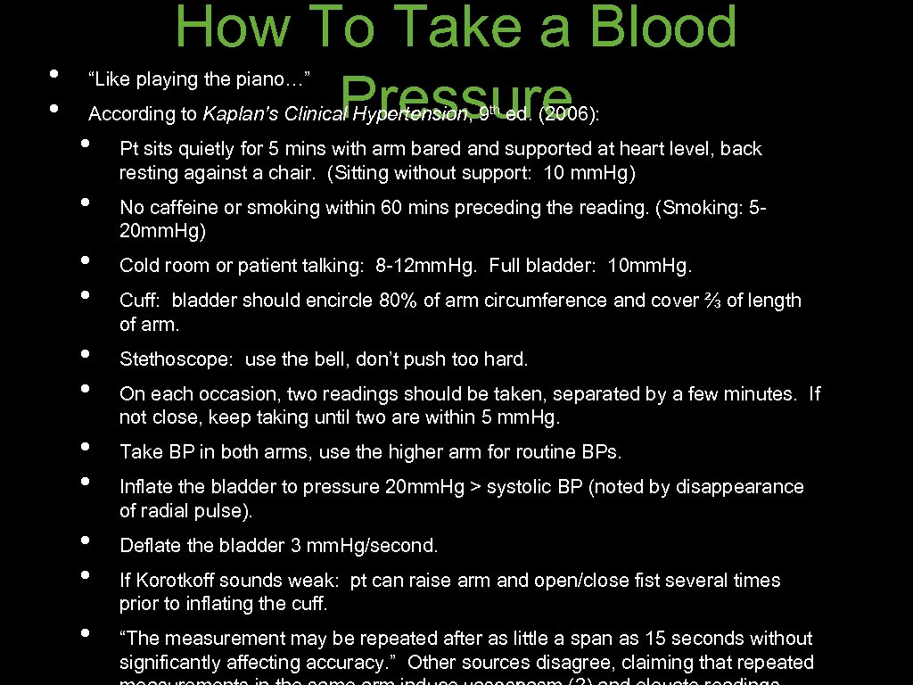 "• • How To Take a Blood Pressure ""Like playing the piano…"" According"