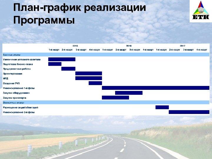План-график реализации Программы