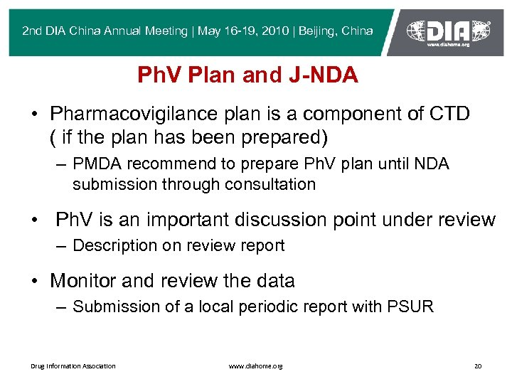 2 nd DIA China Annual Meeting | May 16 -19, 2010 | Beijing, China