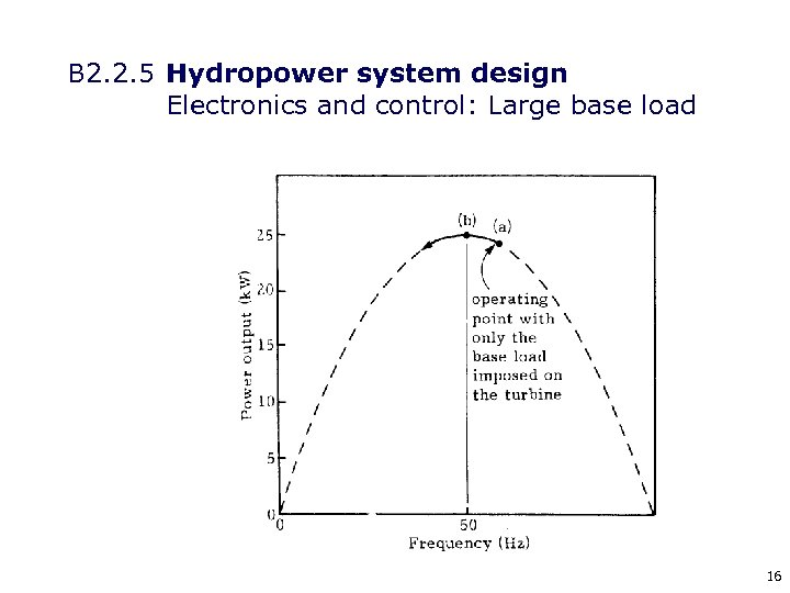 B 2. 2. 5 Hydropower system design Electronics and control: Large base load 16