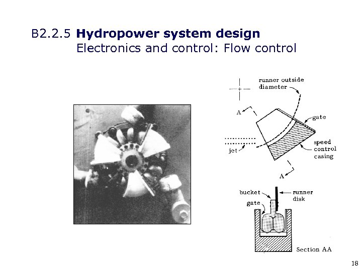 B 2. 2. 5 Hydropower system design Electronics and control: Flow control 18