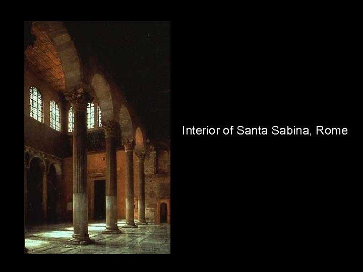Interior of Santa Sabina, Rome