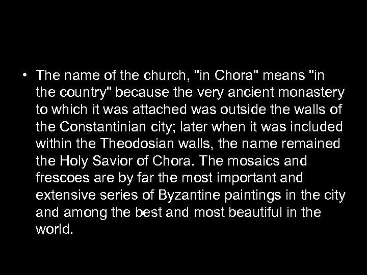 • The name of the church,