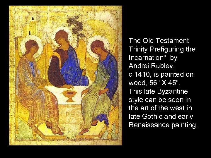 The Old Testament Trinity Prefiguring the Incarnation
