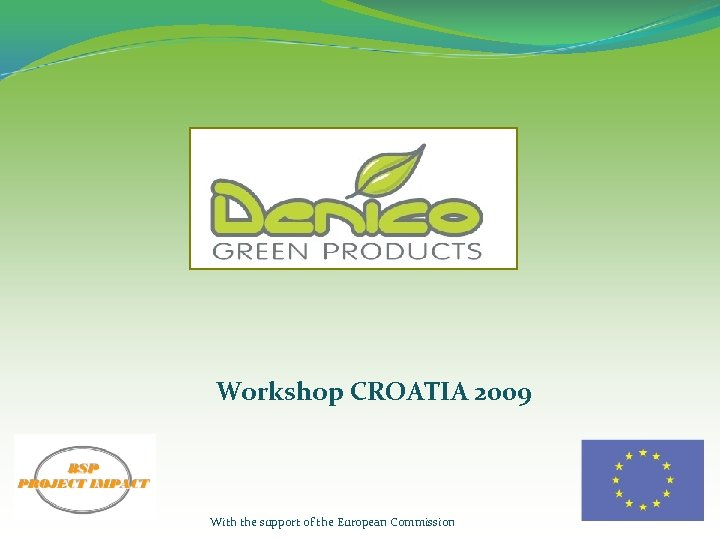 Workshop CROATIA 2009 With the support of the European Commission