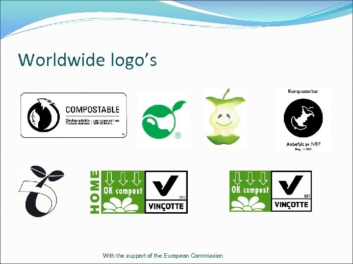 Worldwide logo's With the support of the European Commission