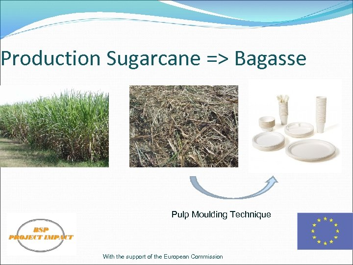 Production Sugarcane => Bagasse Pulp Moulding Technique With the support of the European Commission