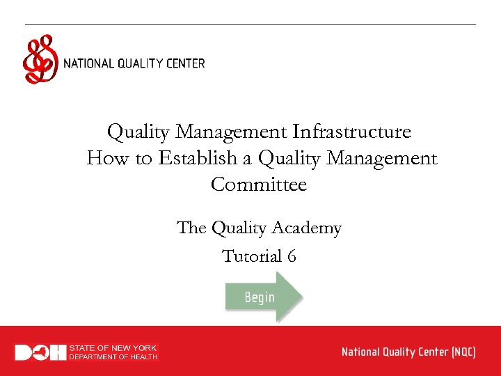 Quality Management Infrastructure How to Establish a Quality Management Committee The Quality Academy Tutorial