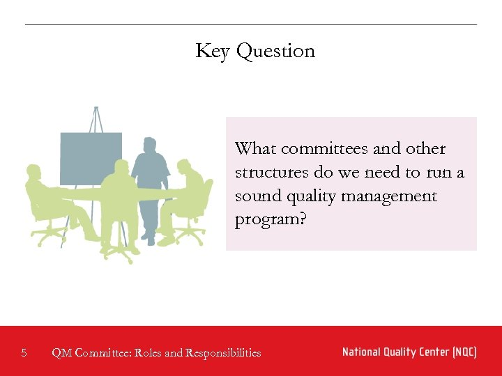 Key Question What committees and other structures do we need to run a sound