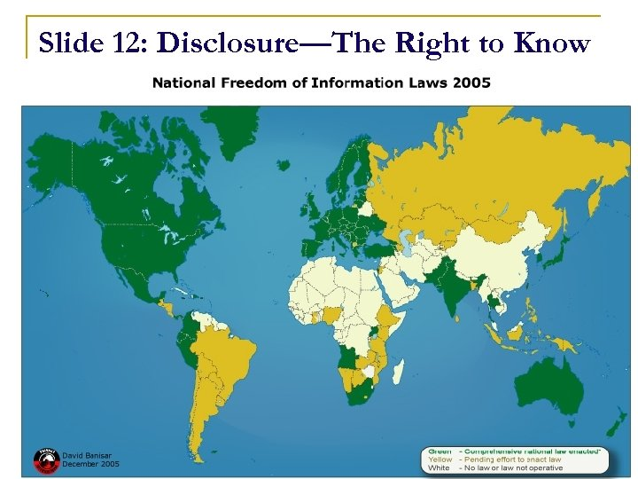 Slide 12: Disclosure—The Right to Know