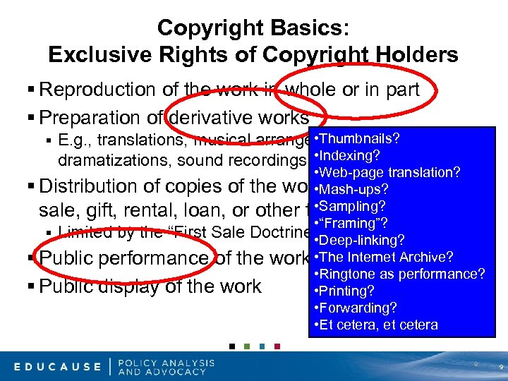 Copyright Basics: Exclusive Rights of Copyright Holders § Reproduction of the work in whole
