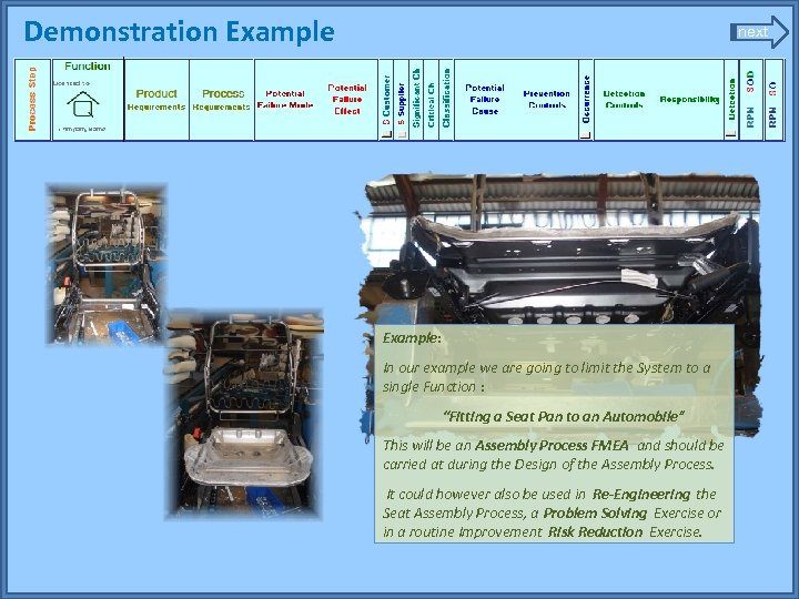 Demonstration Example next Example: In our example we are going to limit the