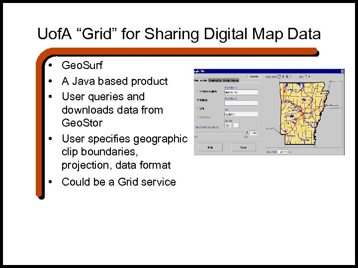 "Uof. A ""Grid"" for Sharing Digital Map Data • Geo. Surf • A Java"